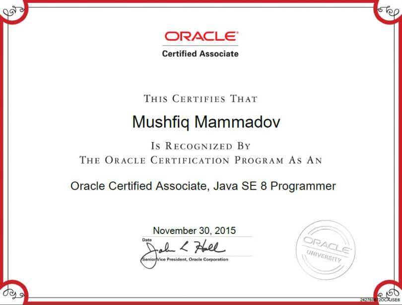OCA-Java-SE-8-Programmer-Sertifikati