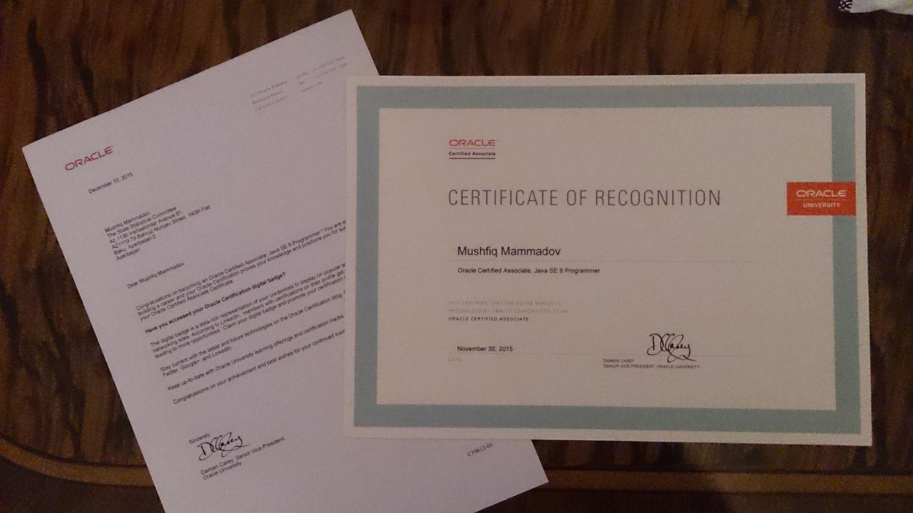 Printed Copy Of Oca Java Se 8 Programmer Certification Java