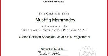 Java OCA certification