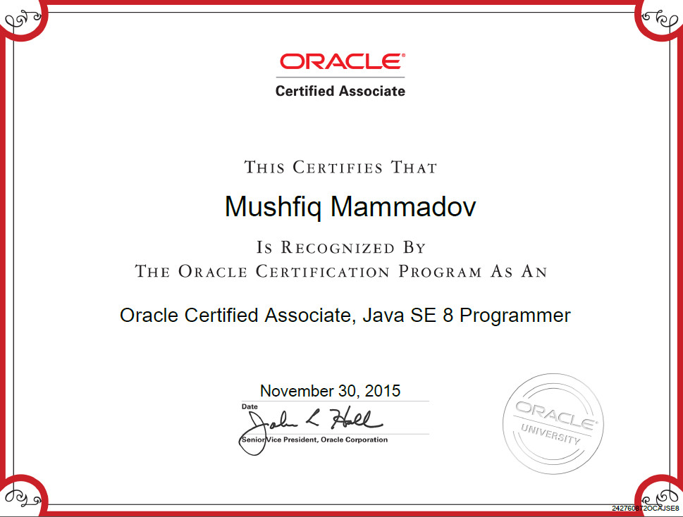 Passed OCA Java SE 8 exam with 94% (my experience with in