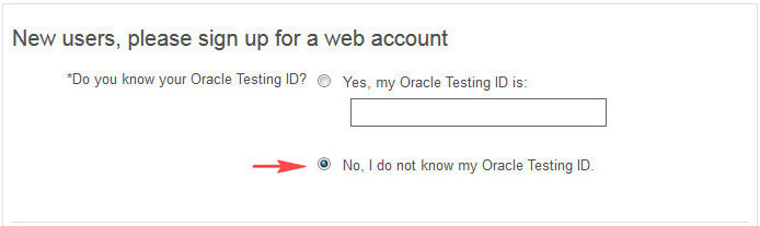 Oracle Testing ID