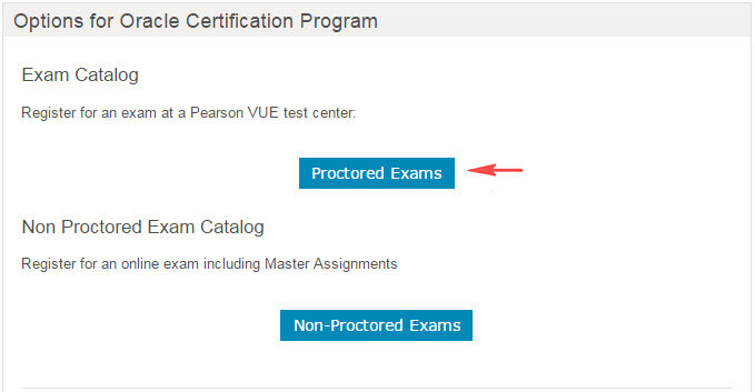 Pearson VUE proctored exams