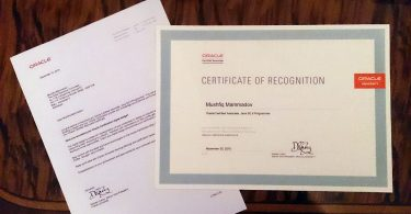 printed copy of java certification