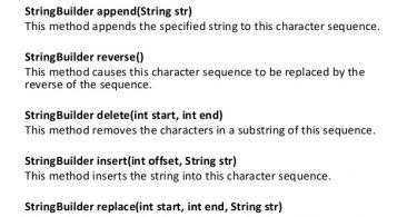 important-StringBuider-methods-in-java